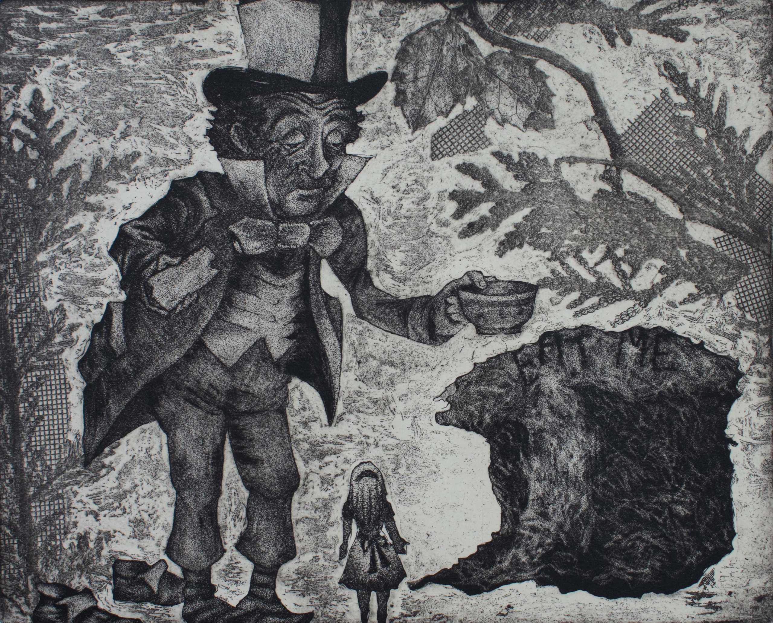 Eat me - 2018 - Soft Ground, Etching, Aquatint on paper - 9x11 inch