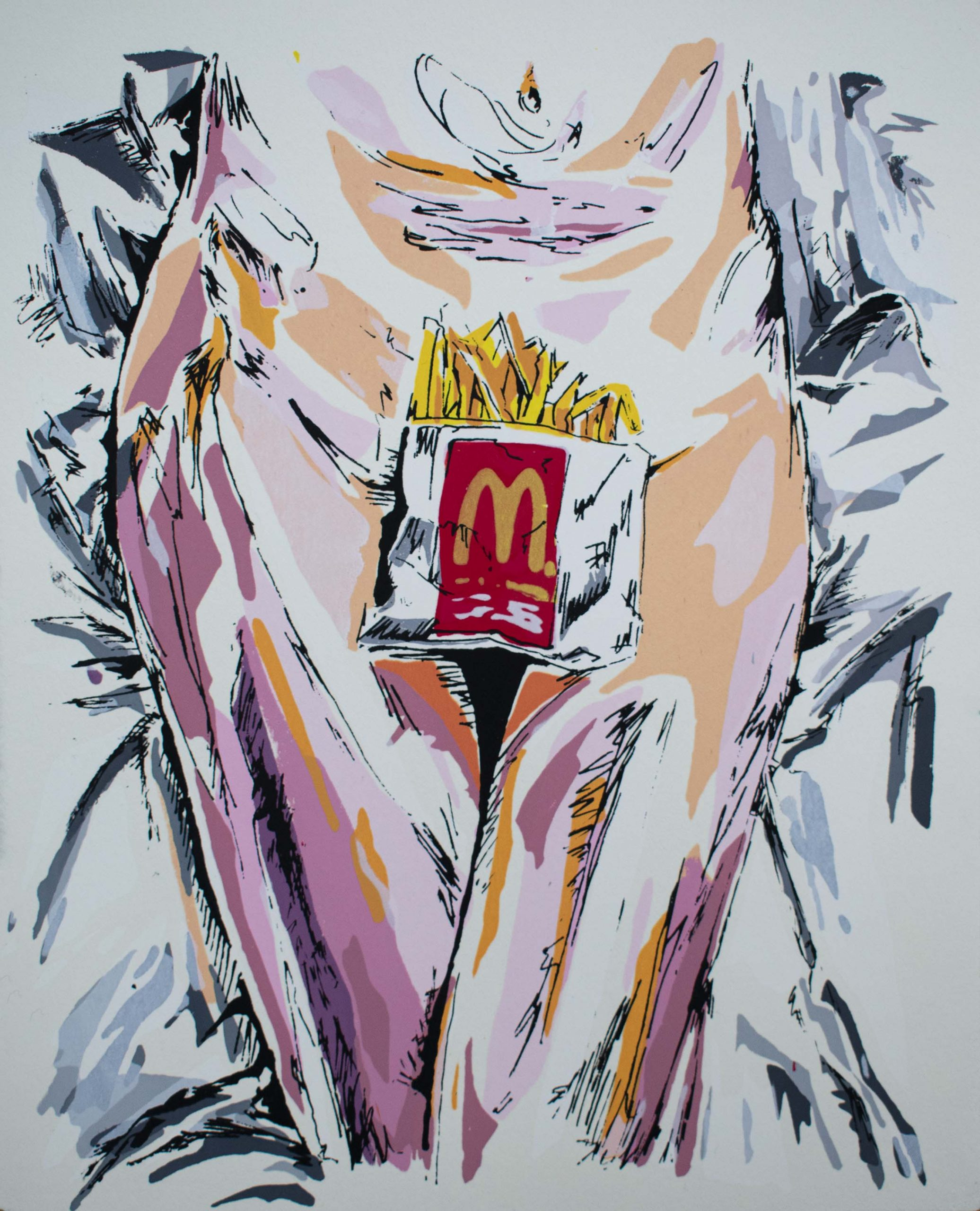 I'm Lovin'it - 2018 - silkscreen on paper - 8x10 inch