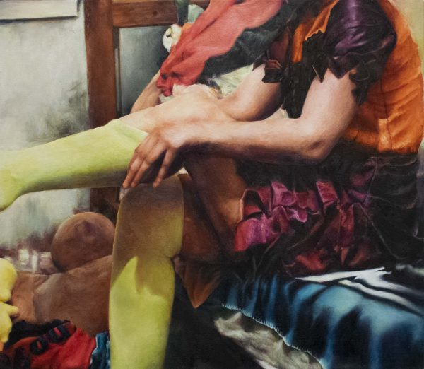 Chaussettes Vertes - 2018 - oil paint on canvas - 24x26 inch