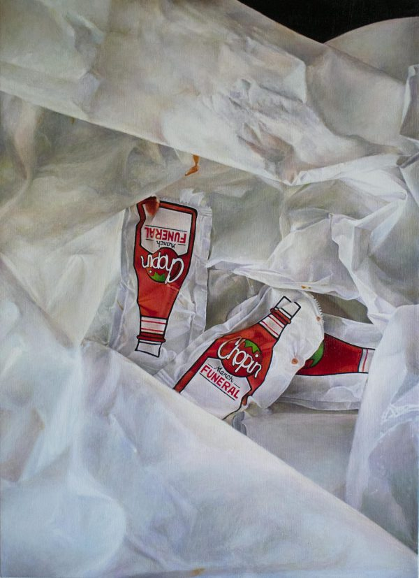 Untitled - oil paint - ketchup
